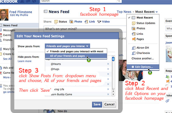feed on facebook settings