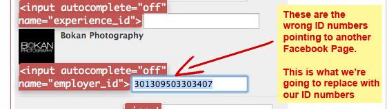 Display Form Details Facebook Work Place