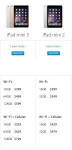 iPad Mini 2 is $100 cheaper than iPad Mini 3
